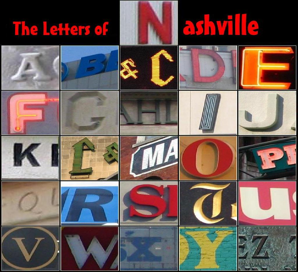 Photomosaic: The Letters of Nashville